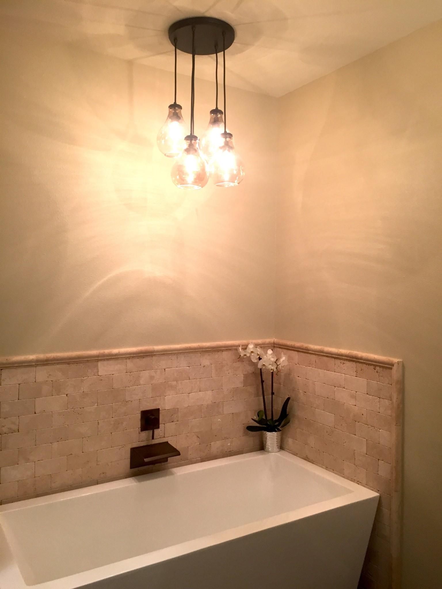 Bathtub chandelier palmer davis design llc